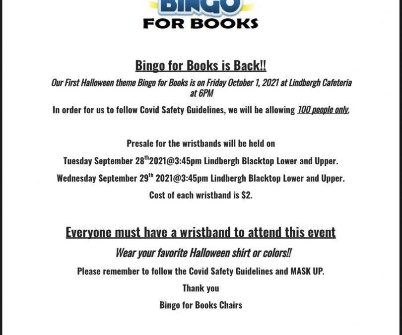 Bingo for Books is Back!
